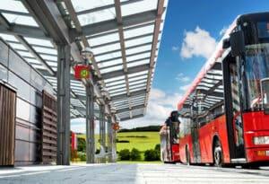 Mit einem Führerschein der Klasse DE können Sie einen Bus mit Anhänger fahren.