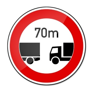 Auf deutschen Straßen ist der Abstand nur abstrakt geregelt.