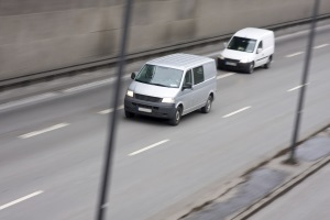 Mit einem Kleintransporter lassen sich Güter ideal transportieren.