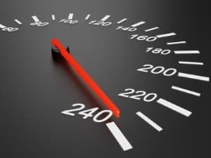 Der einzuhaltende Sicherheitsabstand hängt von der Geschwindigkeit ab.