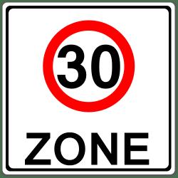 30er-Zone: Der Anfang wird mit dem Zeichen Nummer 274.1 markiert.