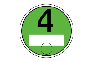 Die grüne Umweltplakette bekommen Kfz mit Euronorm 4.