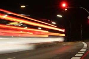 Punkte im Verkehr gibt es z. B. für einen Rotlichtverstoß.