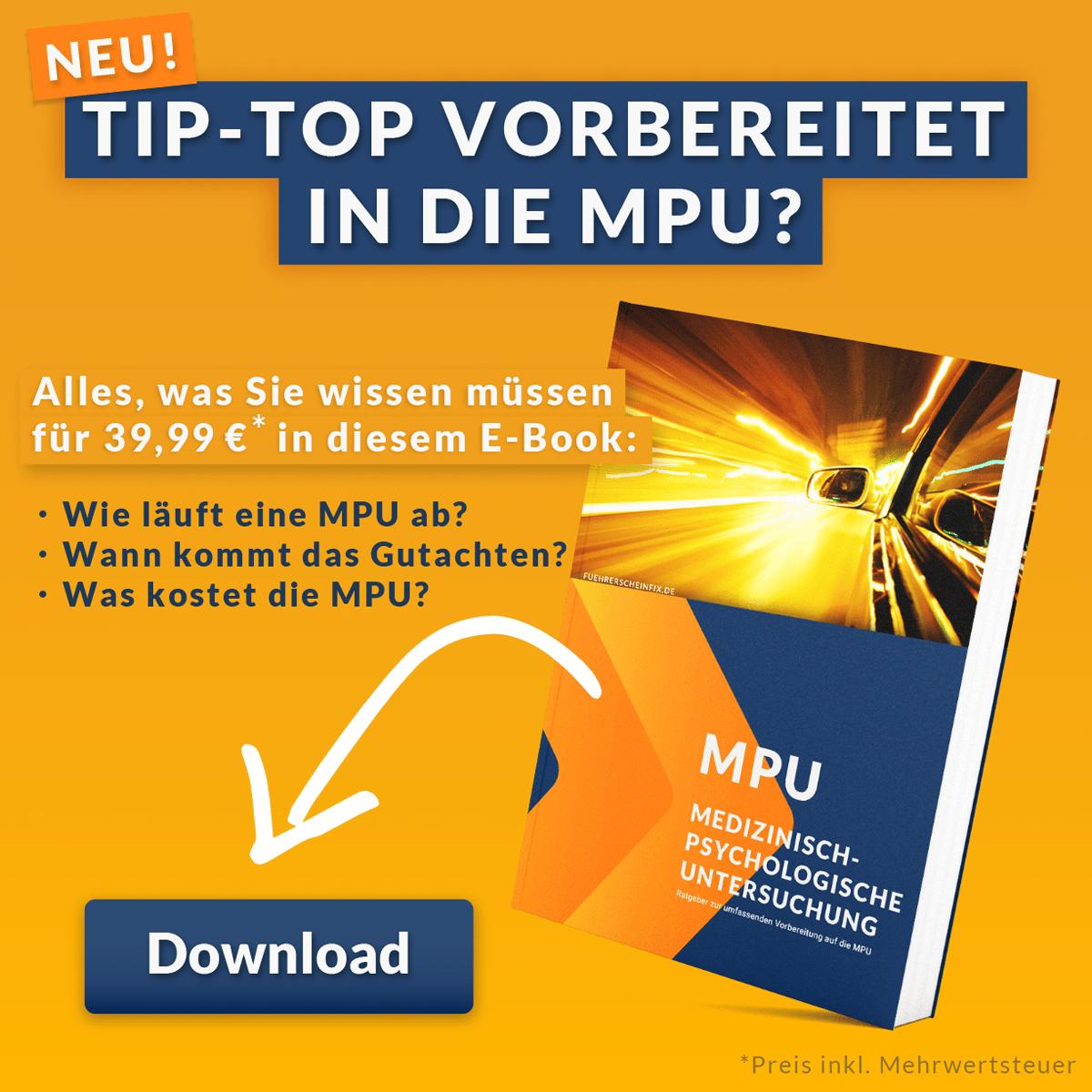 E-Book: Erfolgreich durch die MPU